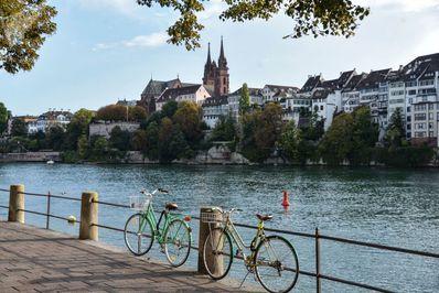 رودخانه راین در بازل، سوئیس