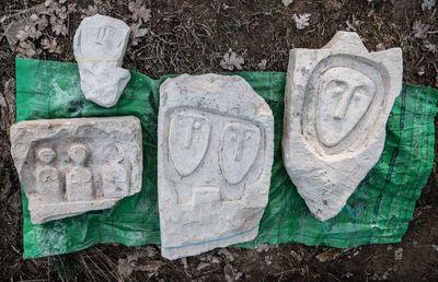 صفحات سنگی متعلق به فرهنگ «اواخر سکاها» که در تحقیقات گورستان کیل دره در نزدیکی سواستاپل کشف شد