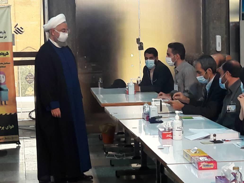 بازدید رییسجمهوری از ستاد انتخابات وزارت کشور