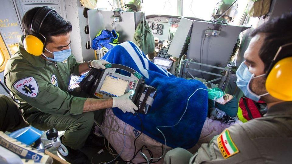 عملیات اورژانس هوایی همدان