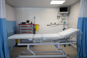 بخش مراقبتهای ویژه بزرگترین بیمارستان سیار کشور