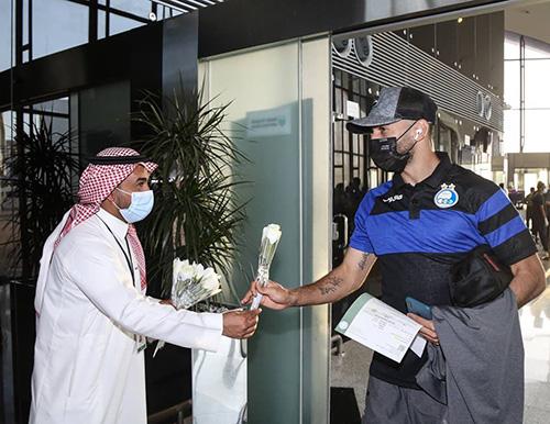استقبال مسئولین عربستان از کاروان استقلال