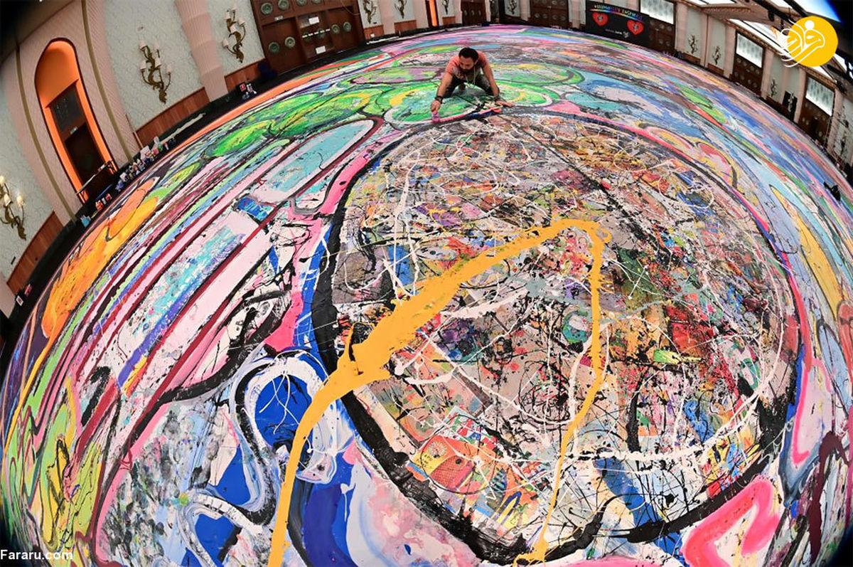 تصاویری زیبا از بزرگترین نقاشی جهان ۶۲ میلیون دلار فروخته شد