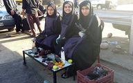 خدمت سه دختر ایرانی در راهپیمایی اربعین ! / عکس