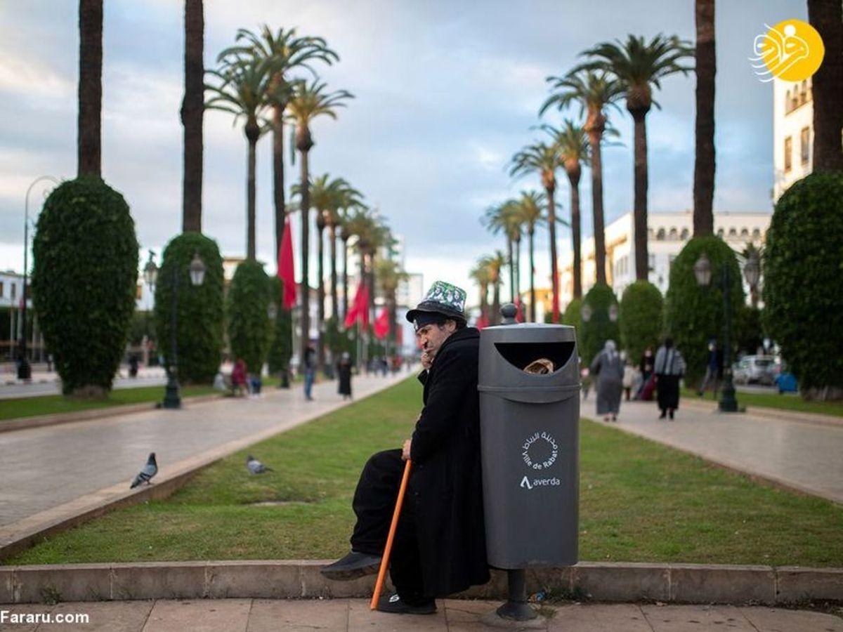 تصاویری از وضعیت عجیب چارلی چاپلین مراکشی!