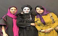 تصویری از گریم عجیب مارال فرجاد در کنار همسر شهاب حسینی