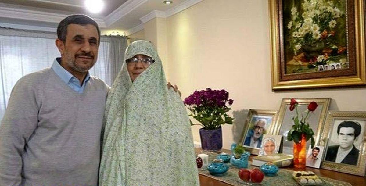 اولین تصاویر منتشر شده از احمدی نژاد و همسرش در سفر دبی