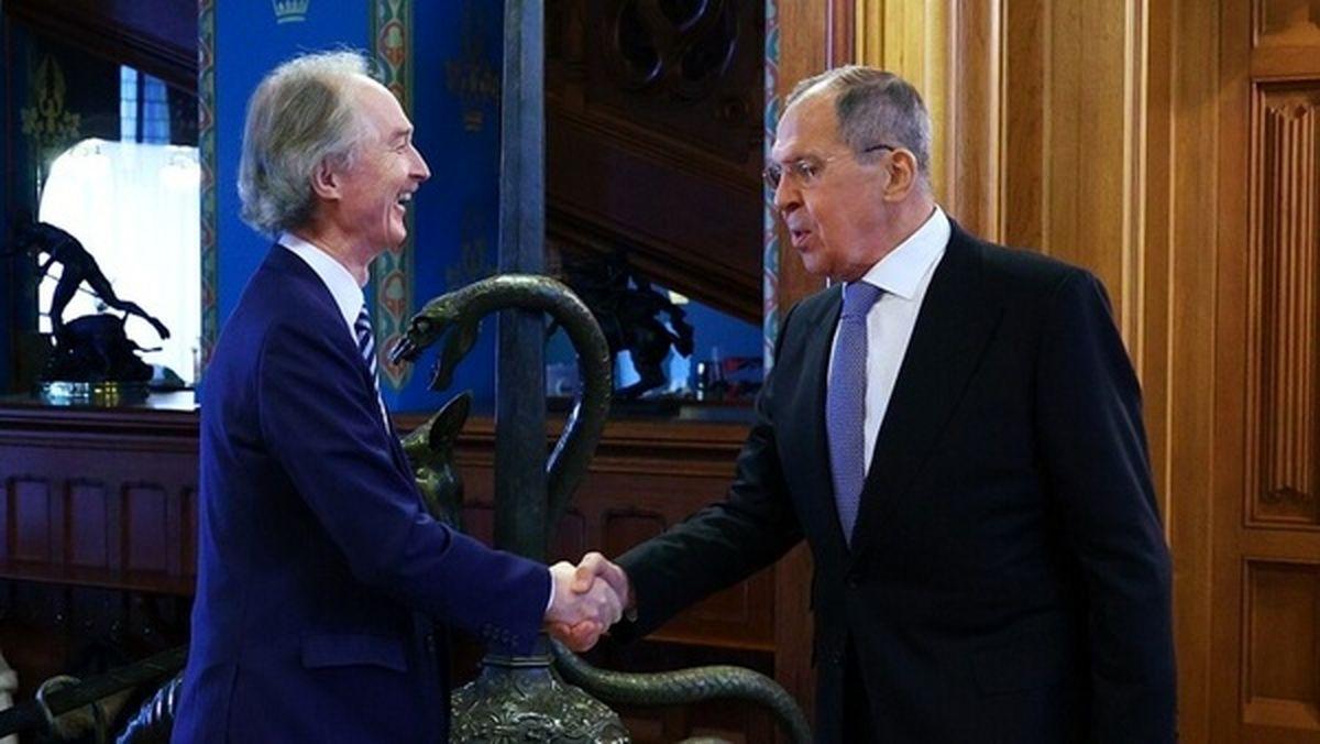 دیدار لاوروف و نماینده سازمان ملل در امور سوریه