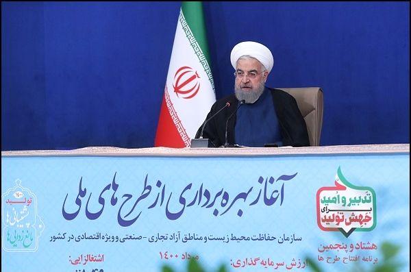 گزارش روحانی از اقدامات دولت برای احیای دریاچه ارومیه