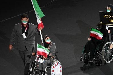مراسم افتتاحیه پارالمپیک و رژه کاروان ایران