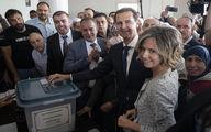 تصاویر رای دادن بشار اسد و همسرش اسما در انتخابات سوریه