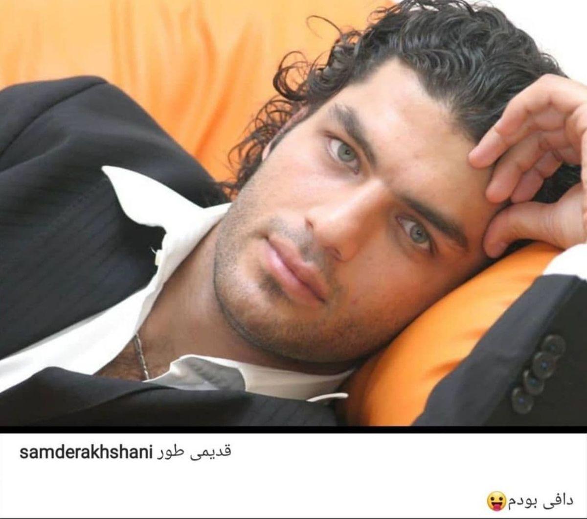عکسی خفن و دیده نشده از دوران جوانی سام درخشانی بازیگر معروف مرد