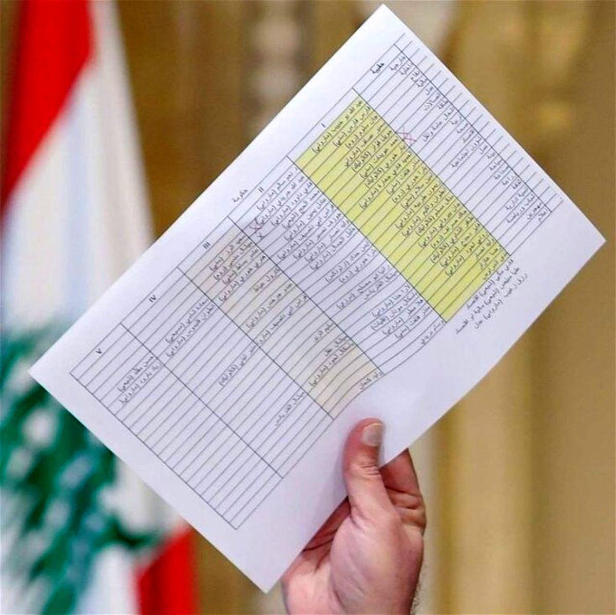 افشای اسامی پیشنهادی کابینه جدید لبنان