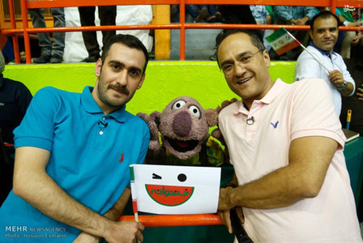 عکس/ جناب خان و رامبد جوان در ورزشگاه آزادی