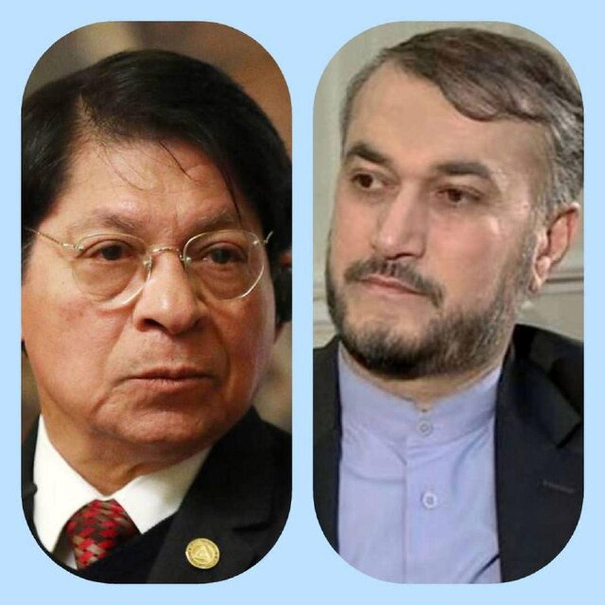 تبریک وزیر روابط خارجی نیکاراگوئه به امیرعبداللهیان
