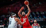 تصاویر دیدنی از نبرد ستارگان بسکتبال ایران با آمریکا در المپیک