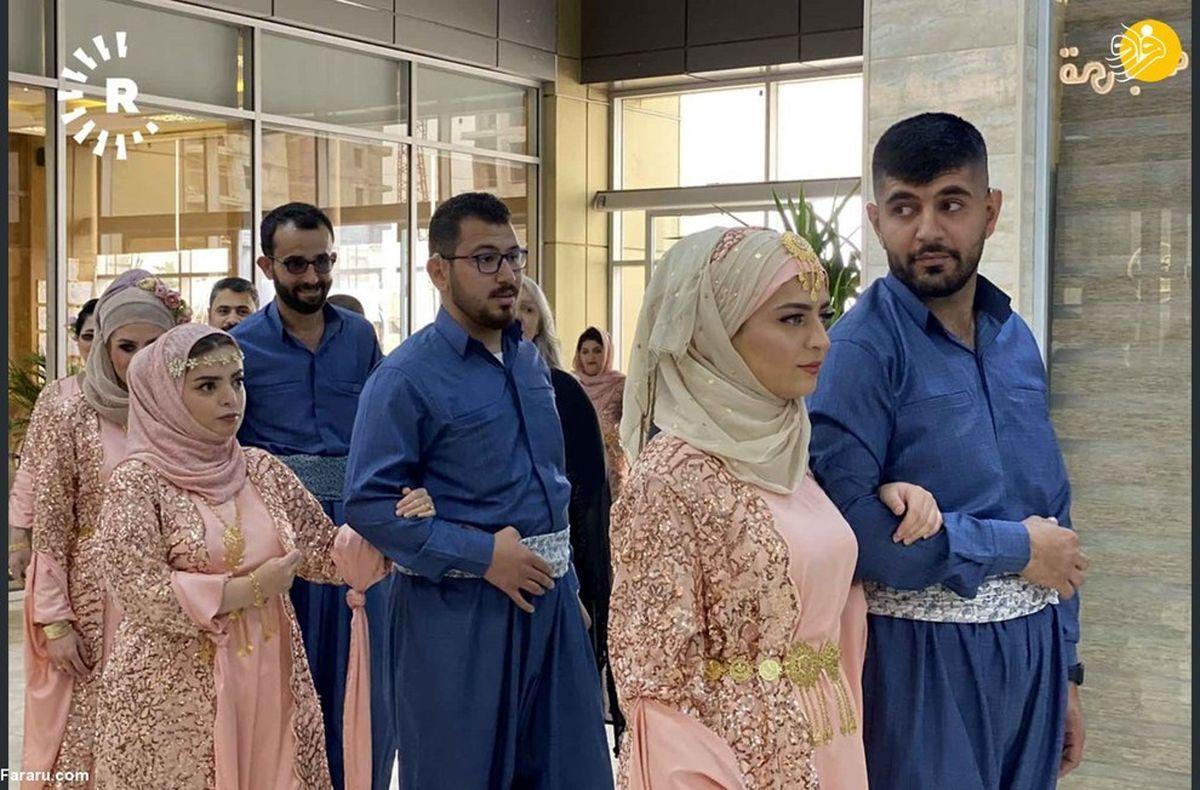 تصاویر دیده نشده از عروسی دسته جمعی ۴۸ زوج نابینا و ناشنوا