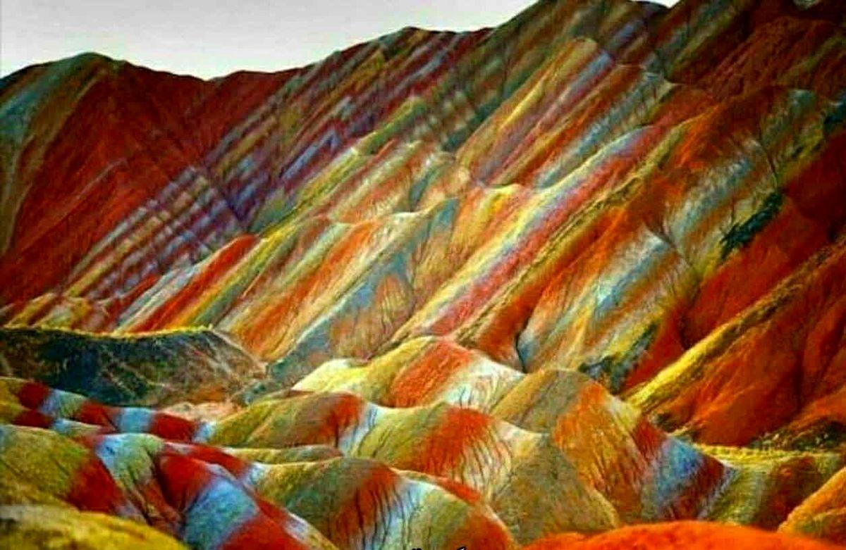 تصویر شگفت انگیز  و باورنکردنی از یک جاذبه طبیعی در زنجان