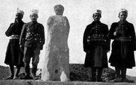تصویری از اعدام با آجرچینی و گچ گرفتن در دوران قاجار