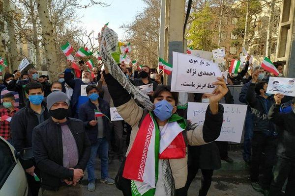 فوری/ تجمع حامیان احمدینژاد جلوی وزارت کشور + جزئیات