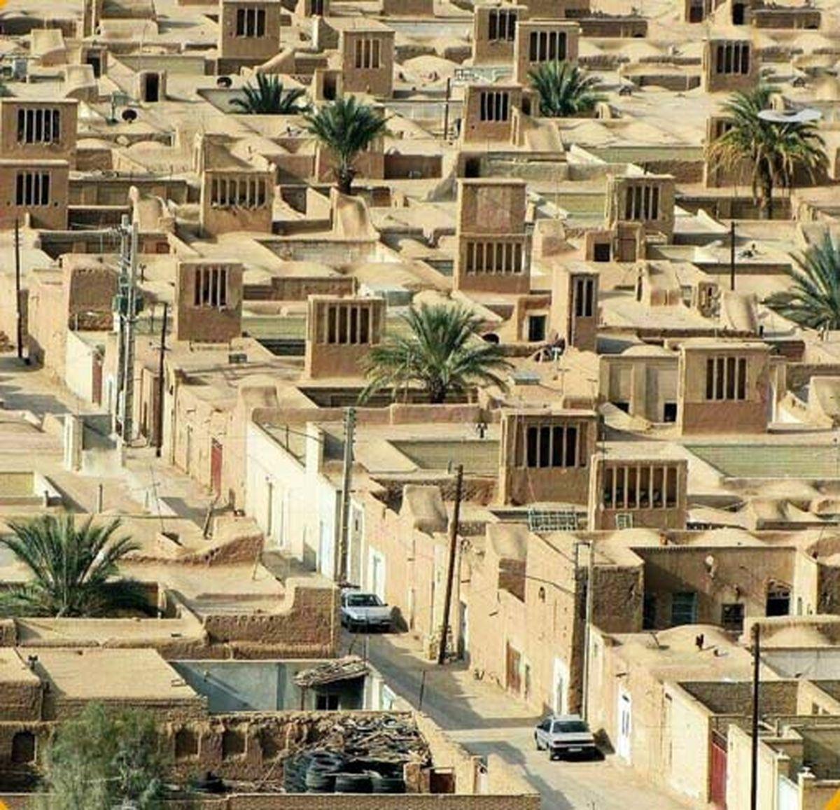 تصویری از منظم ترین روستای خشتی جهان
