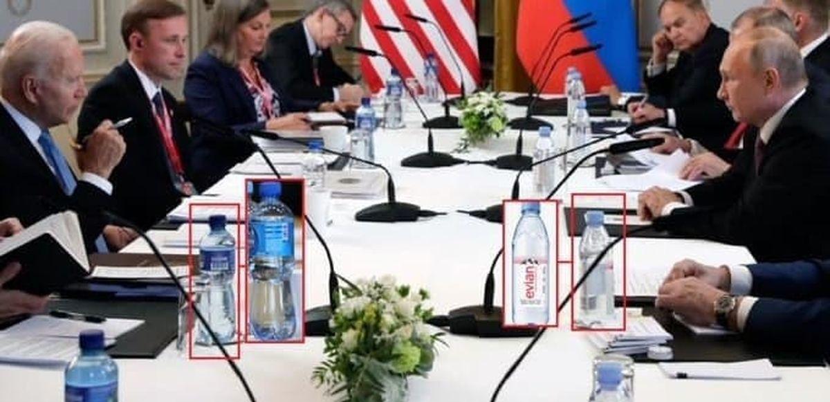 تصویر جالب از بی اعتمادی پوتین و بایدن به هم در جلسه ژنو