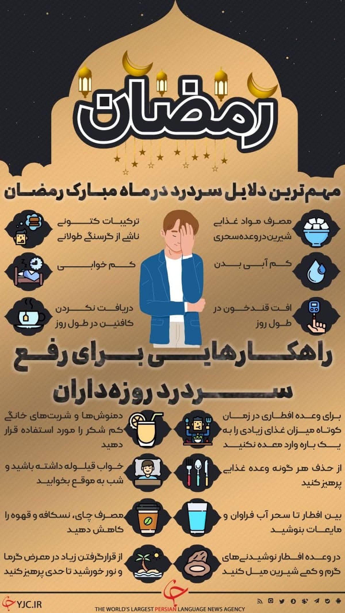 مهمترین دلایل سردرد در ماه رمضان