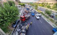تصاویر تصادف وحشتناک در بزگراه شهید آوینی تهران