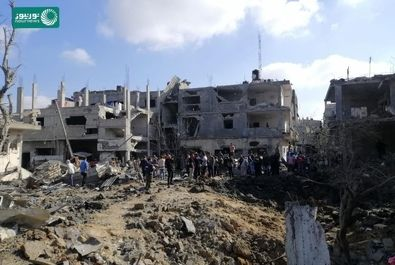 بمباران نوار غزه