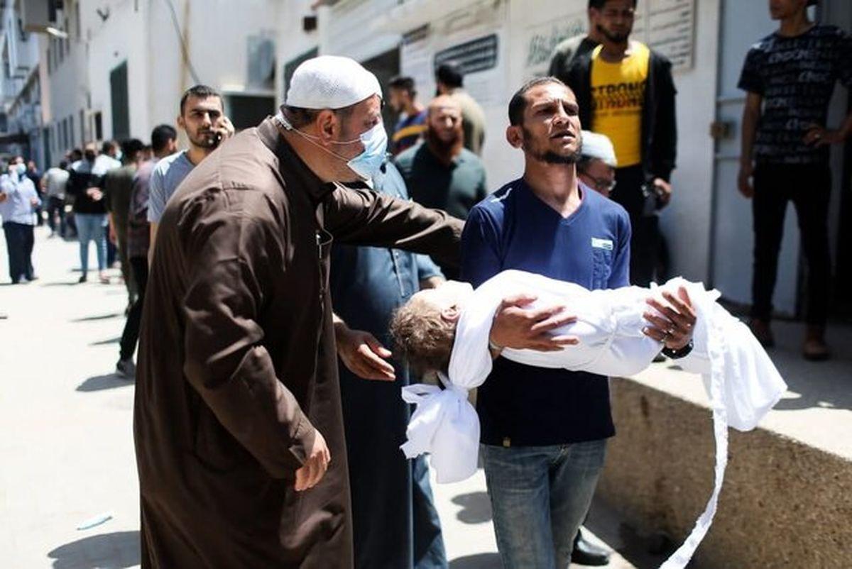 افزایش شمار شهدای فلسطینی جنگ غزه به ۲۴۳ تن