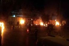 فیلم آتش زدن دیوار کنسولگری ایران در کربلا