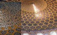 راز طاووس نورانی در گنبد مسجد شیخ لطفالله اصفهان|عکس