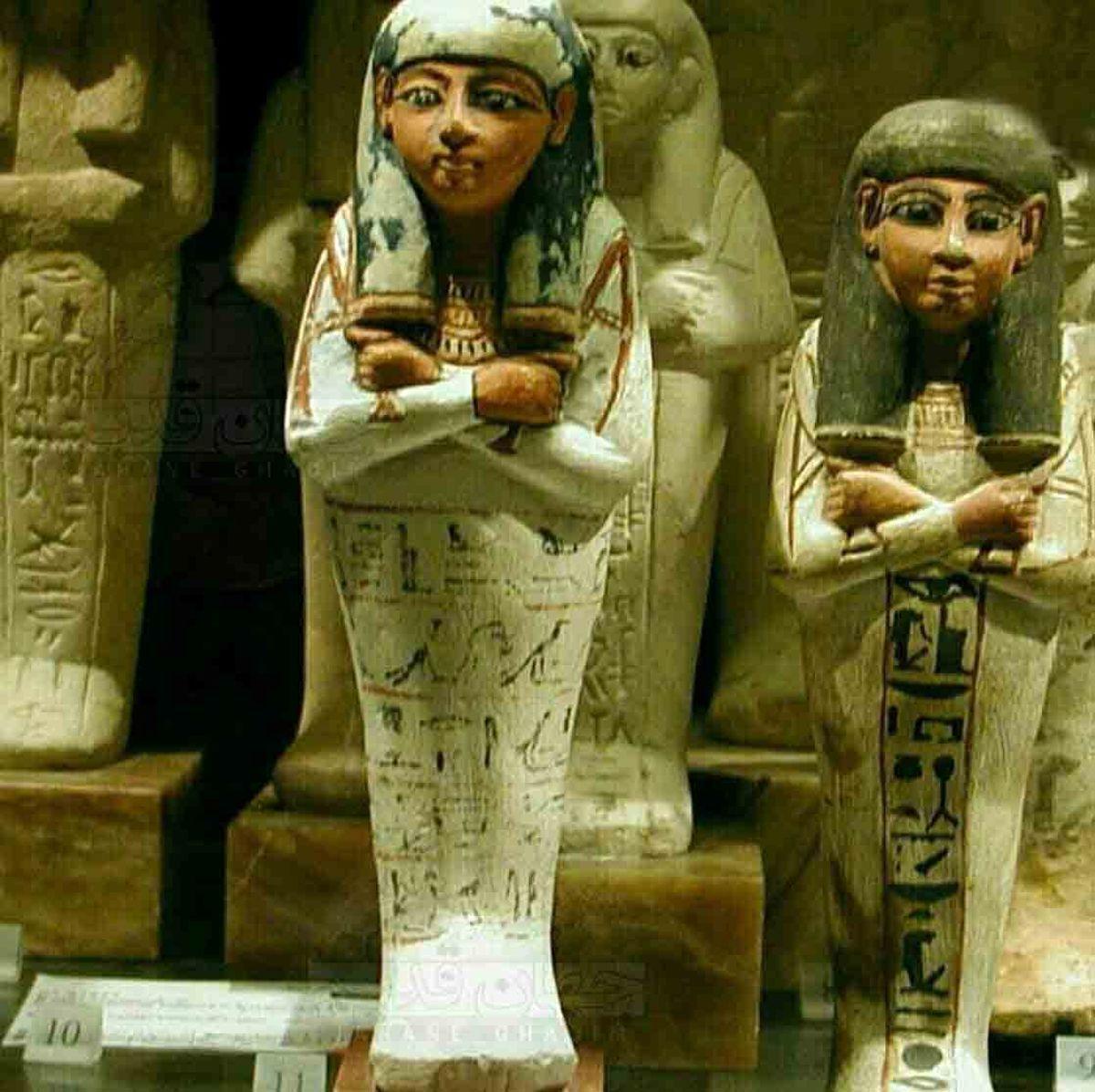 """""""اوشابتیها"""" مجسمههایی که در مصر با مردگان دفن می شدند"""