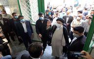 لحظه ورود سید ابراهیم رئیسی به مسجد جامع شهر ری