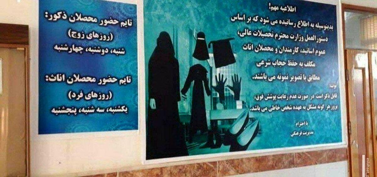 دستور حجاب مورد نظر طالبان برای دختران در دانشگاهها