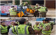 علمیات ضدعفونی، گندزدایی معابر و تست تب سنجی ساکنان مناطق محروم توسط شرکت فولاد خوزستان
