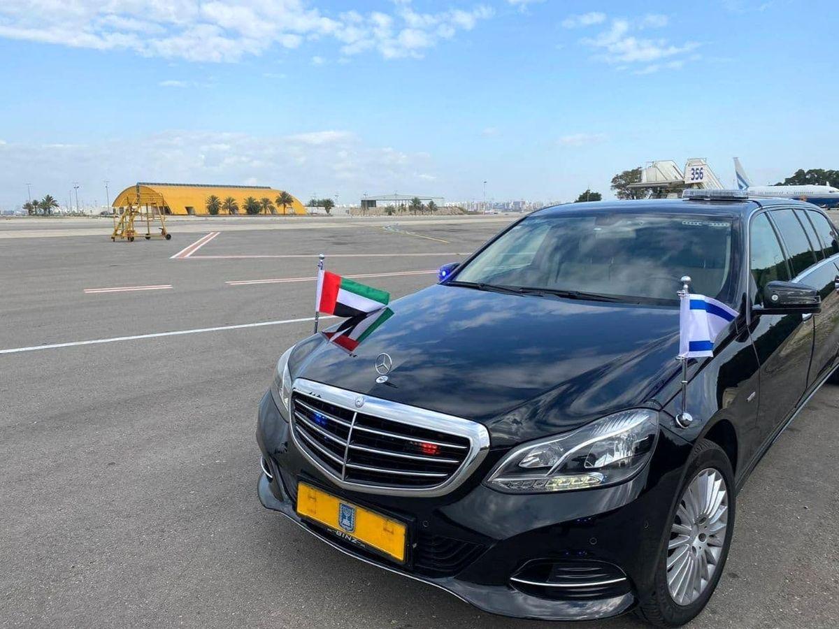 عکس دیده نشده از ورود اولین سفیر امارات در اسرائیل