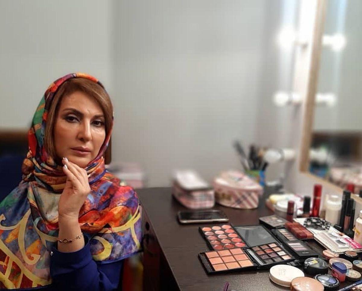 فاطمه گودرزی در سالن آرایش شخصی اش + عکس