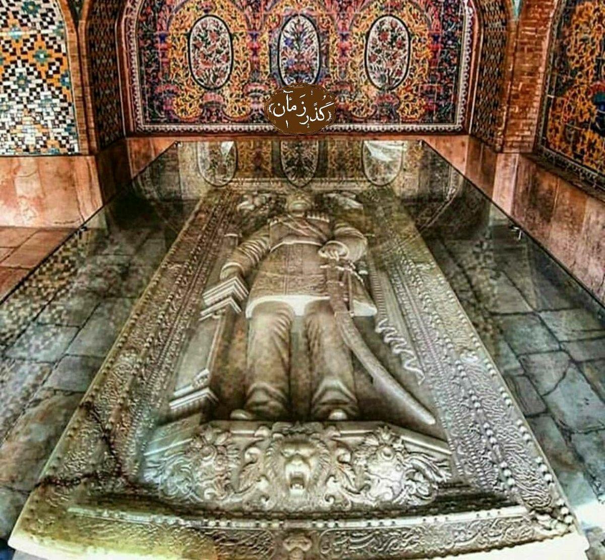سنگ قبر زیبای یکی از بی لیاقتترین پادشاهان ایران+عکس