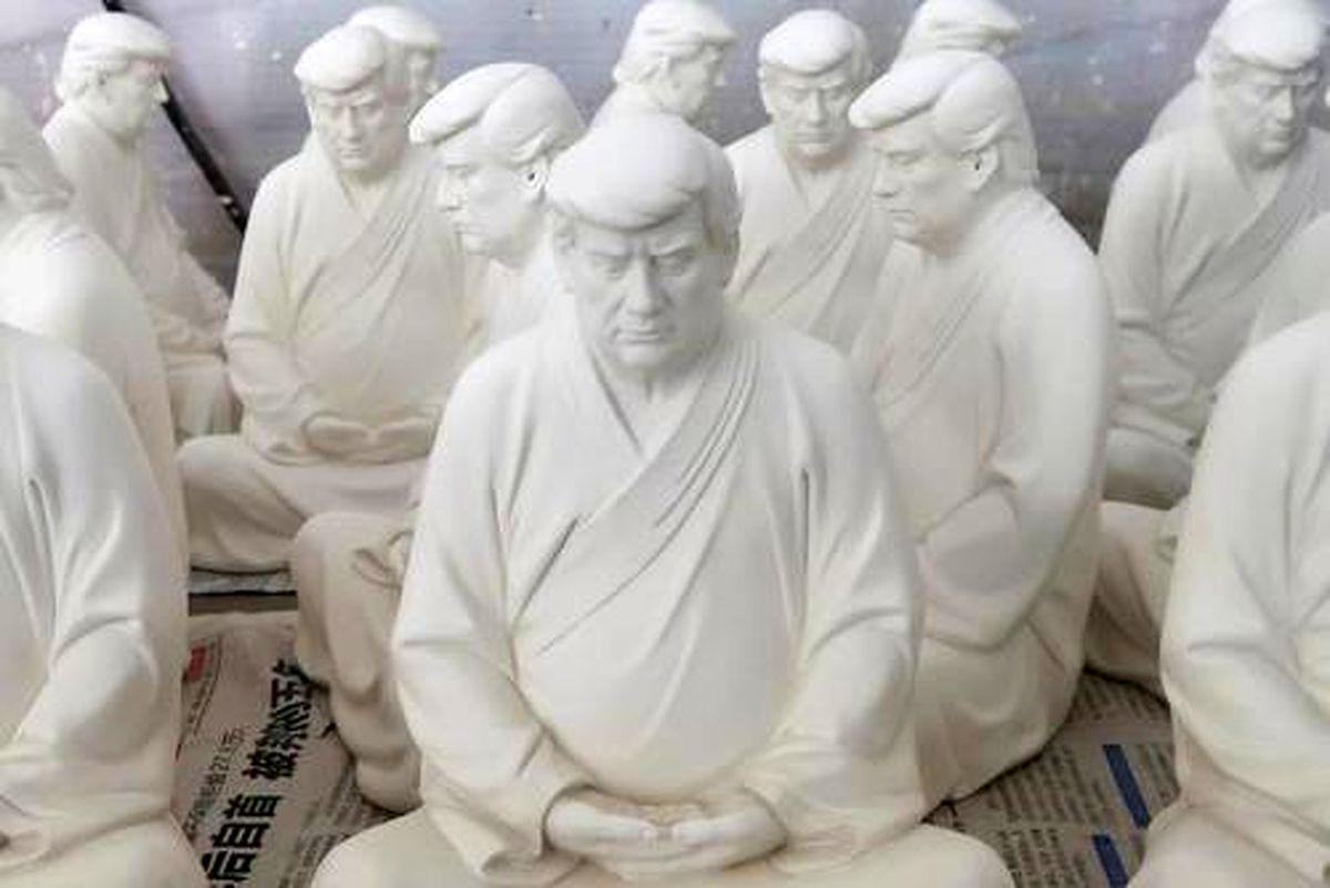 مجسمههای عجیب ترامپ در چین+عکس