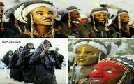 در قبیله و دابه، (نیجریه) مردان آرایش می کنند/عکس