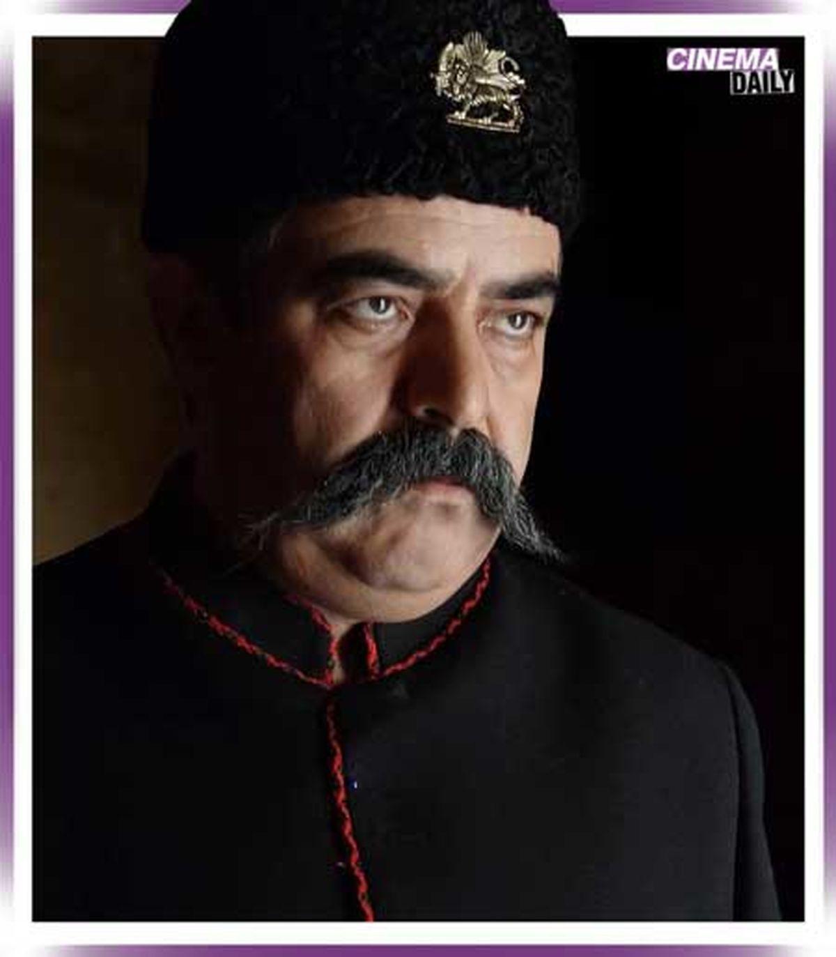 گریم جالب حسن معجونی در نقش ناصرالدین شاه