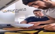 علیرضا جهانبخش در حال پختن نان در قرنطینه + عکس