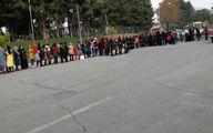 ورود پرشور خانم های پرسپولیسی به ورزشگاه آزادی /عکس