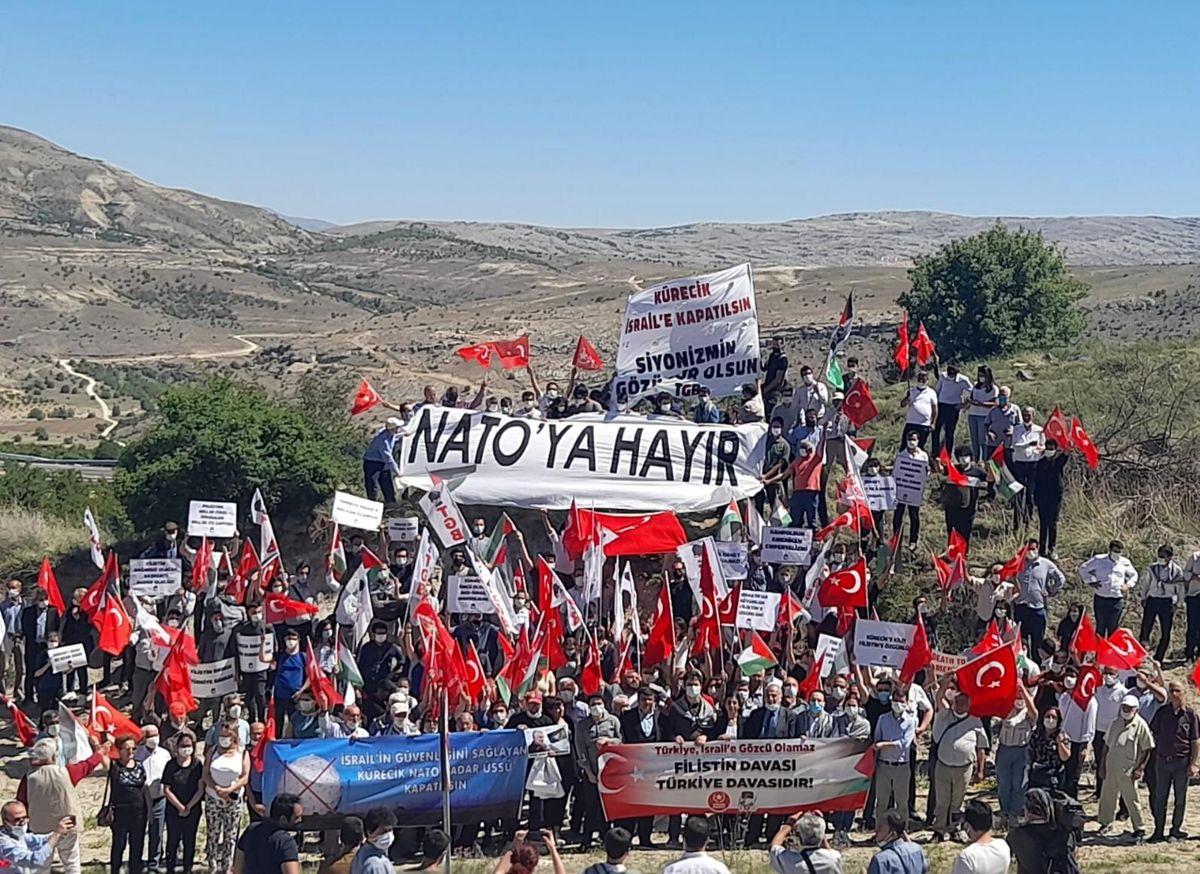 تظاهرات علیه پایگاههای نظامی آمریکا در ترکیه