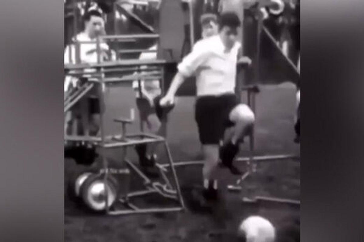 تمرینات عجیب فوتبالیست ها در  ۷۱ سال پیش