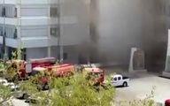تصاویری از آتشسوزی ساختمان وزارت بهداشت عراق