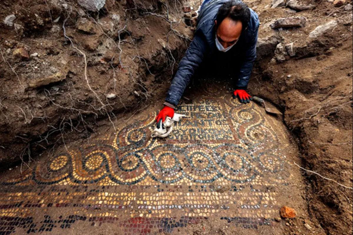 کشف یک موزاییک ۱۵۰۰ ساله در صومعهای رومی +عکس