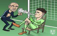 بی احترامی گلر چلسی به ساری!/ کاریکاتور
