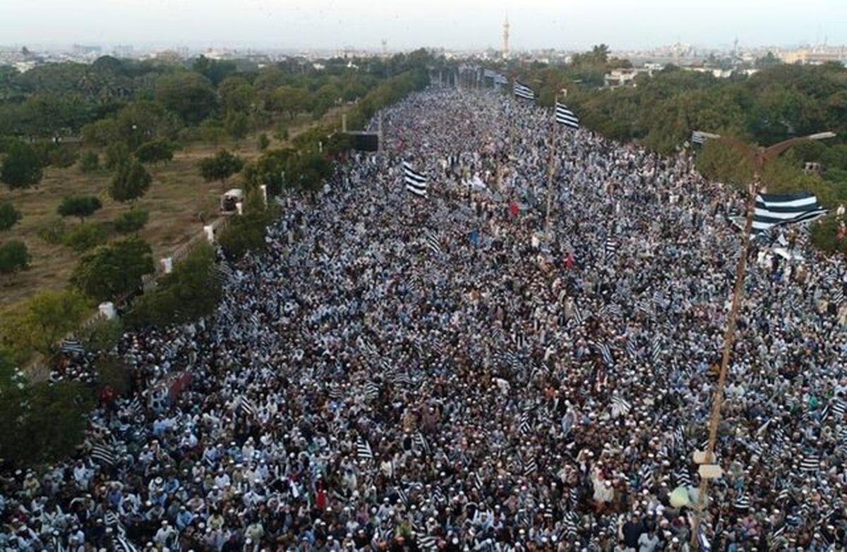 راهپیمایی میلیونی مردم پاکستان علیه عادیسازی روابط با رژیم صهیونیستی + عکس